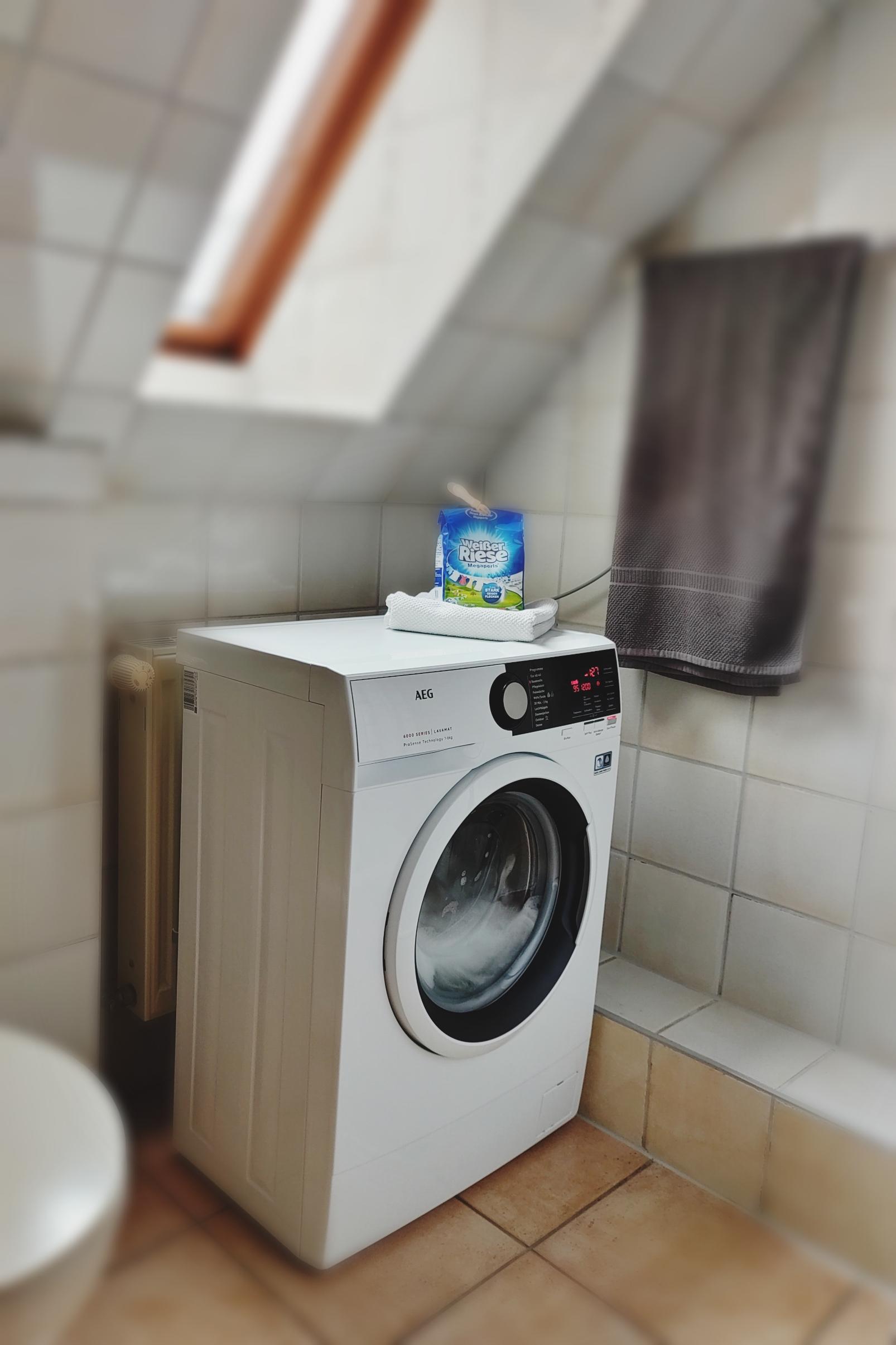 in der Ferienwohnung steht nun eine Waschmaschine zur Verfügung